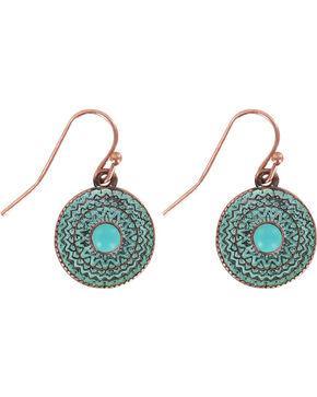 Shyanne Women's Western Earrings, Turquoise, hi-res