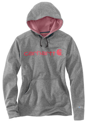 Carhartt Extremes® Women's Force Signature Graphic Hooded Sweatshirt, Hthr Grey, hi-res