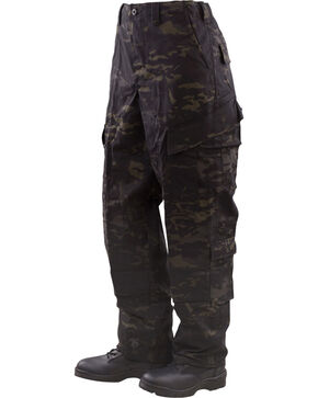 Tru-Spec Tactical Response Camo Uniform Pants - Big and Tall, Black, hi-res
