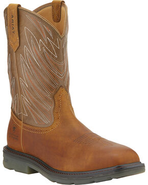 Ariat Maverick Waterproof Work Boots - Composition Toe, Aged Bark, hi-res