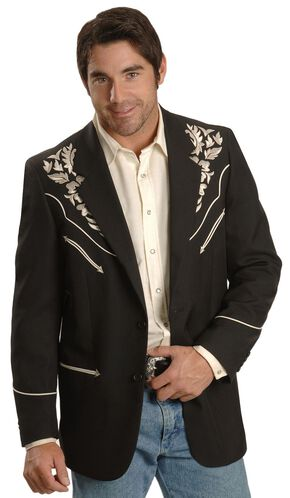 Scully Floral Embroidered Western Jacket, Silver, hi-res