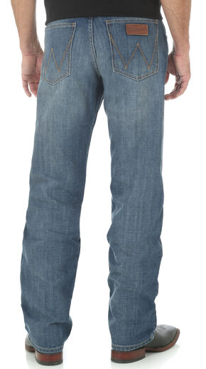 Wrangler Retro Men's Relaxed Fit Medium Wash Boot Cut Jeans, Indigo, hi-res
