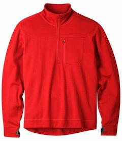 Mountain Khakis Engine Red Rendezvous Quarter Zip Long Sleeve Shirt, , hi-res