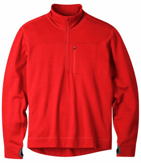 Mountain Khakis Engine Red Rendezvous Quarter Zip Long Sleeve Shirt, Red, hi-res