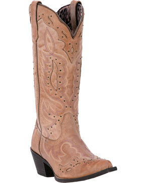 Laredo Women's Brown Presley Western Boots - Snip Toe , Brown, hi-res