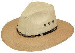 Twister 8X Jute Straw Cowboy Hat, , hi-res
