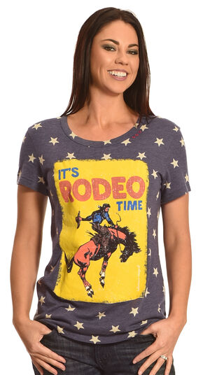 Bohemian Cowgirl Women's Rodeo Stars T-Shirt , Navy, hi-res