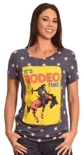 Bohemian Cowgirl Women's Rodeo Stars T-Shirt , Navy, hi-res