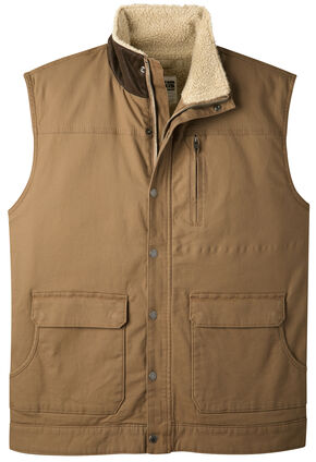 Mountain Khakis Men's Ranch Shearling Vest, Brown, hi-res