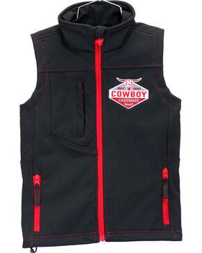 Cowboy Hardware Boys' Built Tough Vest, Black, hi-res