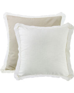 HiEnd Accents Cream Lace Trim Double-Sided Euro Sham, , hi-res