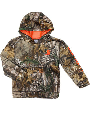 Carhartt Little Boy's Realtree Camo Hoodie, Camouflage, hi-res
