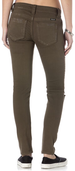 Miss Me Women's Forward March Army Green Skinny Jeans, , hi-res