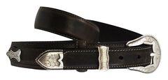 Roper Ranger Concho Leather Belt, , hi-res