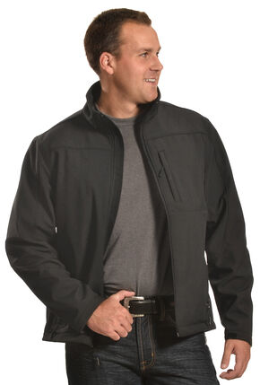 Forge Workwear Men's Black Lined Bonded Jacket , Black, hi-res