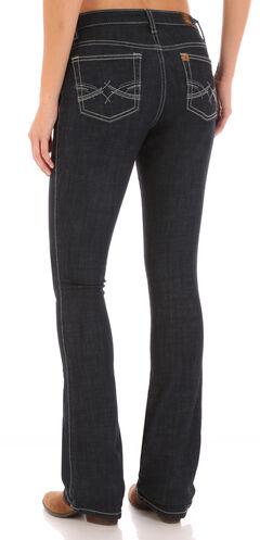 Wrangler Aura Women's Indigo Instantly Sllmming Stitch Pocket Jeans - Boot Cut, , hi-res