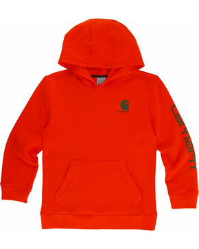 Carhartt Boys' Signature Sweatshirt, Orange, hi-res