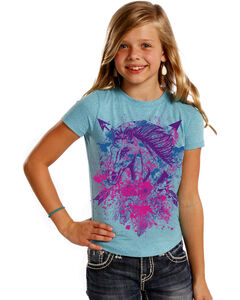 Rock & Roll Cowgirl Girls' Horse and Arrows T-Shirt , , hi-res