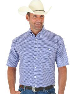 Wrangler George Strait Purple Print Short Sleeve Shirt, , hi-res