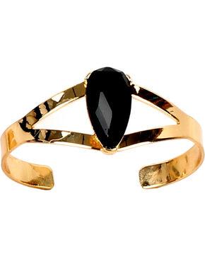 Ethel & Myrtle Best of Show Black Crystal Cuff Bracelet, Black, hi-res