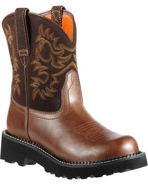 Ariat Fatbaby Cowgirl Boots - Round Toe, Brown, hi-res