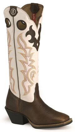 Tony Lama 3R Series Buckaroo Boots - Square Toe, , hi-res