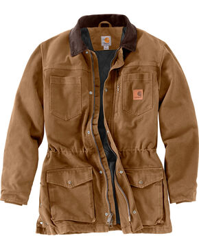 Carhartt Men's Canyon Ranch Coat - Big & Tall, Brown, hi-res