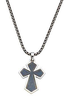 Montana Silversmiths Antique Cross Necklace, , hi-res