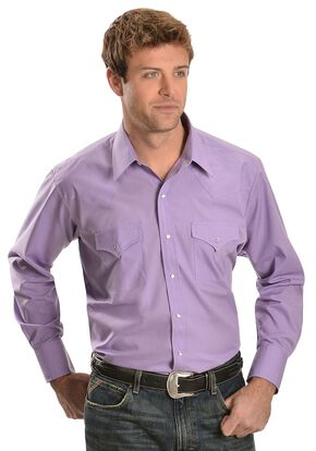 Ely Classic Lavender Western Shirt - Reg, Lavender, hi-res