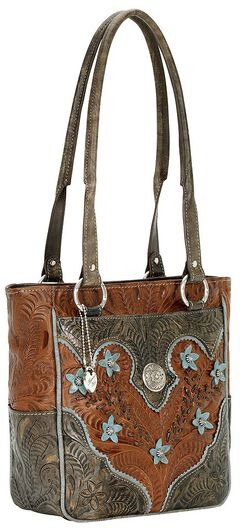 American West Desert Flower Zip Top Tote, , hi-res