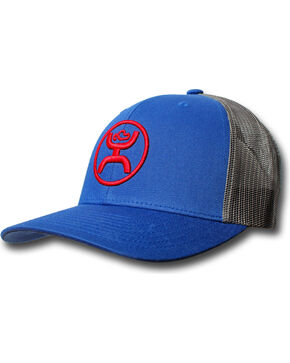 Hooey Men's Cody Ohl Trucker Cap, Blue, hi-res