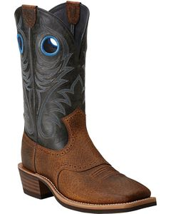 Ariat Heritage Rough Stock Cowboy Boots - Wide Square Toe, , hi-res