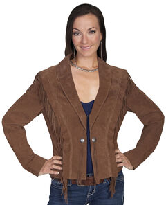 Scully Bolero Fringe Suede Jacket, , hi-res