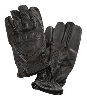 Interstate Leather Driving Gloves w/ Wrist Closure, Black, hi-res