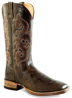 Old West Men's Brown Western Boots - Square Toe , , hi-res