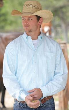Cinch Men's Light Blue Button Down Shirt, , hi-res