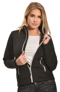Cowgirl Legend Women's Black Bonded Softshell Jacket , , hi-res