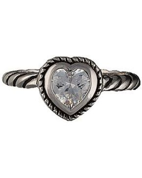 Montana Silversmiths Heart on a String Solitaire Ring - Size 8, Multi, hi-res