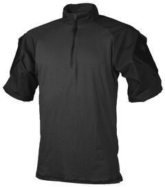 Tru-Spec Men's Black TRU Combat 1/4 Zip Shirt, , hi-res