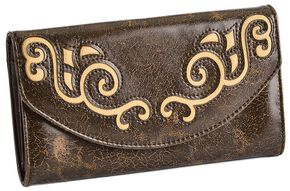 Blazin Roxx Underlay with Scroll Wallet, Brown, hi-res