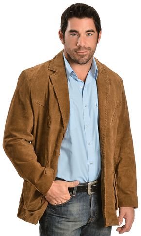 Scully Suede Leather Whipstitch Jacket, Brown, hi-res
