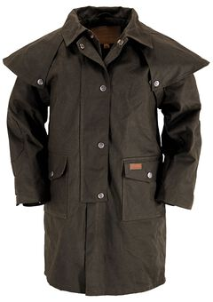 Outback Trading Co. Kids' Cotton Oilskin Duster, , hi-res