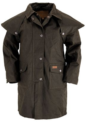 Outback Trading Co. Kids' Cotton Oilskin Duster, Brown, hi-res