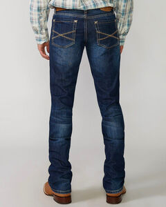 """Stetson Rock Fit Barbwire """"X"""" Stitched Jeans - Big & Tall, , hi-res"""