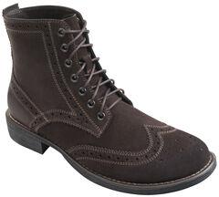 Eastland Men's Brown Suede Bennett Wing Tip Boots, , hi-res