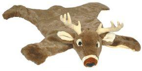 White Tail Deer Plush Rug, Brown, hi-res