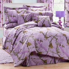 Realtree Lavender Camo Full Comforter Set, , hi-res