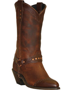 Abilene Sage Brown Sting Ray Wingtip Cowgirl Boots - Round Toe , , hi-res