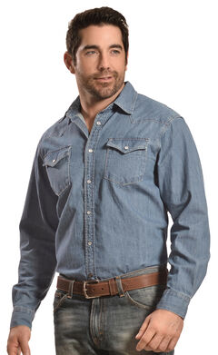 Mountain Khakis Blue Original Mountain Denim Shirt, , hi-res