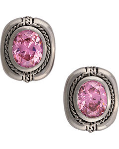 Montana Silversmiths Cowgirl Class Pink Earrings, , hi-res